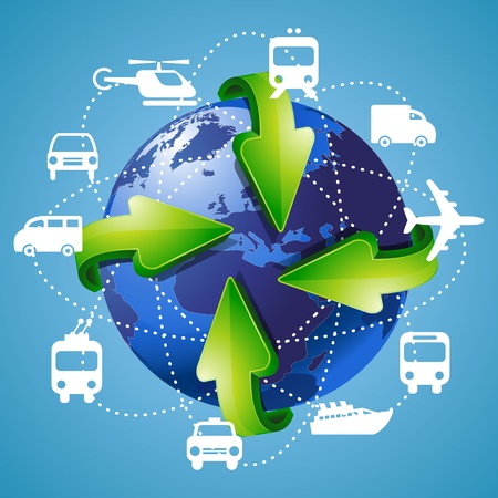 Background Travel and Transportation Vector