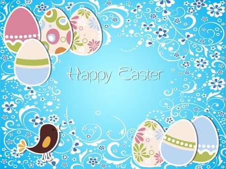 Vector Easter holiday background and card Stock Vector - 12476776