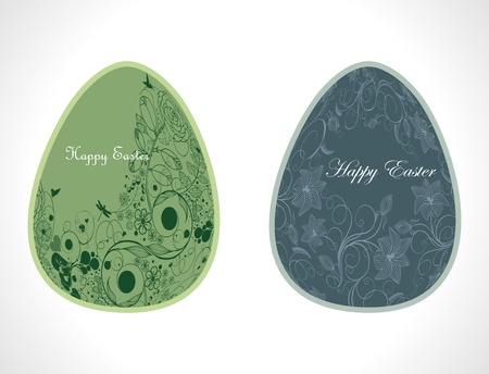 Vector vintage colored Easter eggs Vector