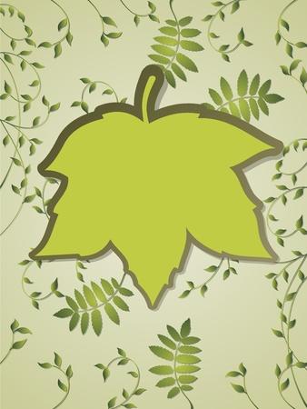 rimmed:  Leaves and frame text Illustration