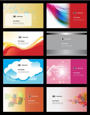 modern business: Various Business Card