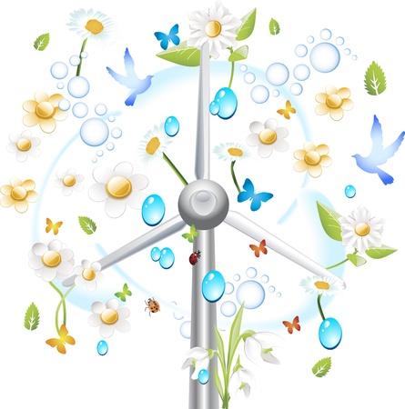 Grüne Energie Windkraftanlage mit isolierten