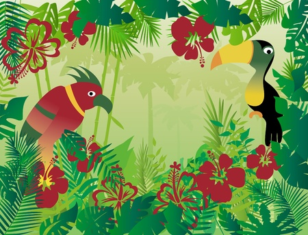 tropical jungle background Stock Vector - 12476816
