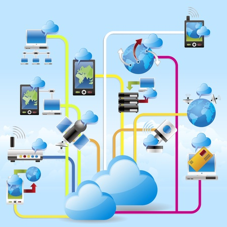 wireless icon: cloud computing networking