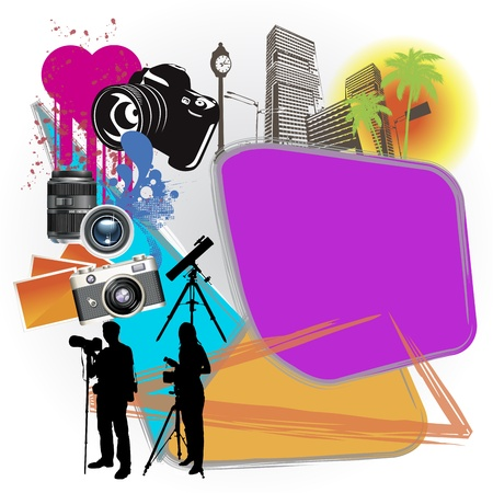 colorful commerce page layout photo theme Vector