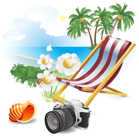 Summer beach  Illustration theme Vector