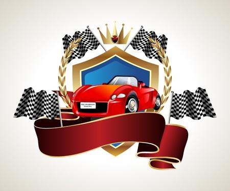 emblem car racing championship Vector