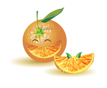sensory perception: naturalistic orange laughing