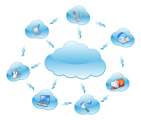 cloud computing networking Vector