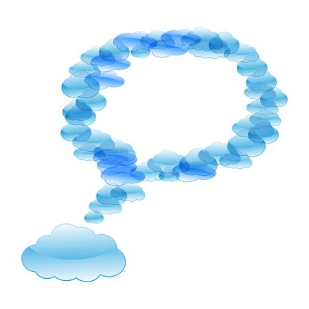 Blue cloud speech bubbles Stock Vector - 12476842