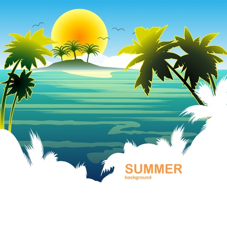 travel summer holiday tropical island sun Vector