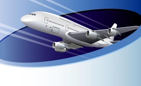 visz: Illusztráció sablon repülőgép és másol, hely