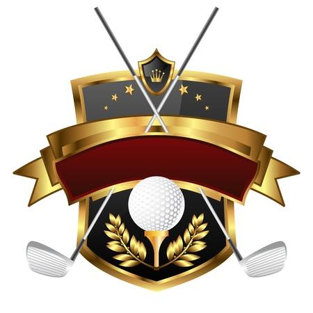 スポーツのチャンピオン ゴルフの国章  イラスト・ベクター素材