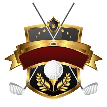 Emblem of sport champion Golf Stock Vector - 12812091