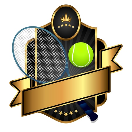 tennis net: Emblem of sport tennis emblem