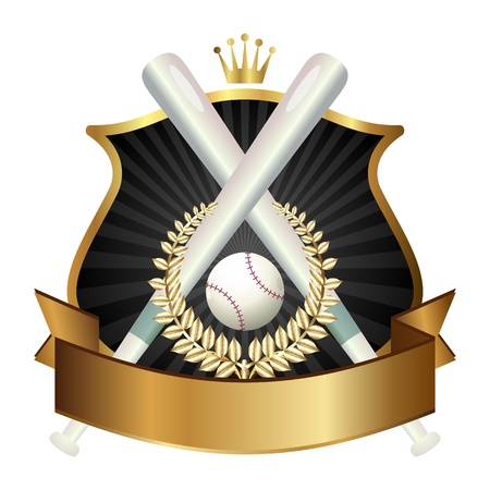 Emblem of sport champion Baseball Vector