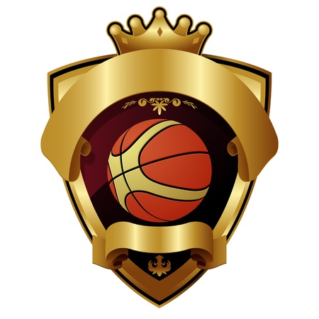 Emblem of sport champion Basketball Vector