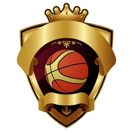 baloncesto: Emblema del deporte campe�n del Baloncesto Vectores