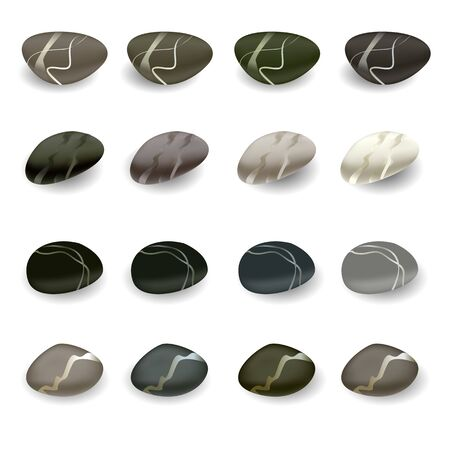 various color spa stones Stock Vector - 12812181