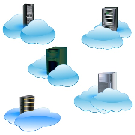 private public: Cloud computing concept Illustration