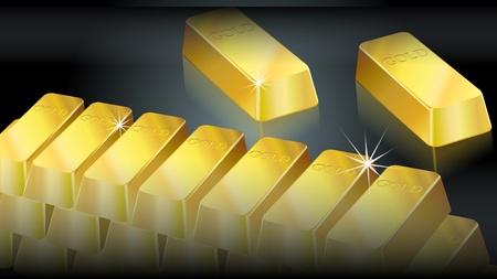 lingot or: Fond lingots d'or