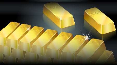 Gold bullion background Stock Vector - 12812244