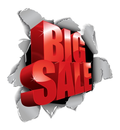 big sale: Big sale tear through the paper