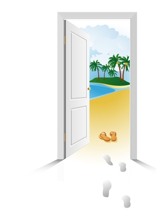 unblock: Near the sea, just open the door