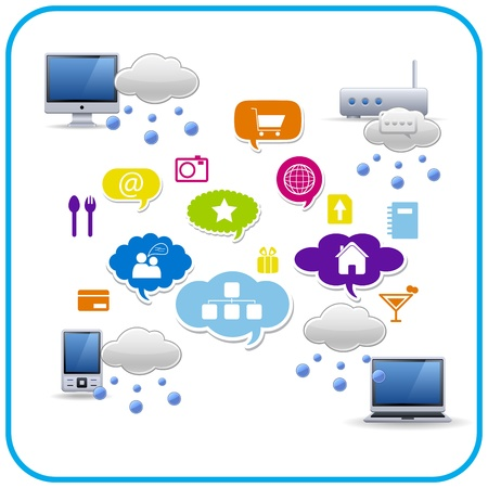 cloud computing networking Stock Vector - 12941433