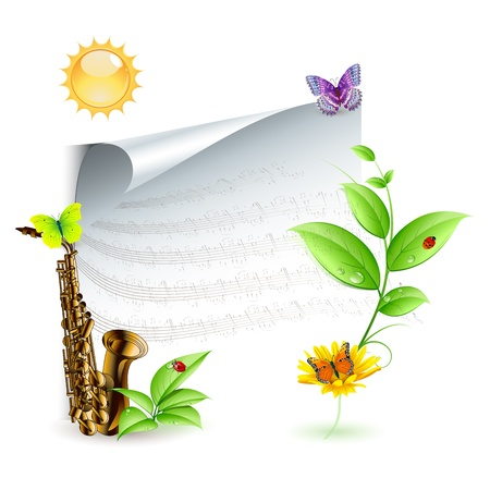 jazz for the environment background Vector
