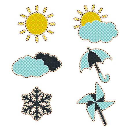 tatter: Illustrations patchwork of Weather icon