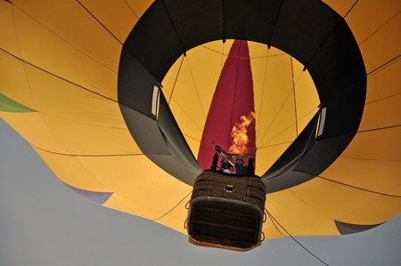 hot balloon with fire photo