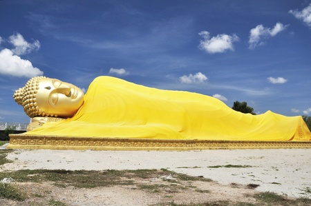 Reclining Buddha in Songkhla province Thailand photo