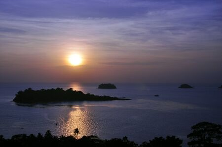 Scenic view of island during sunset Stock Photo - 13310488