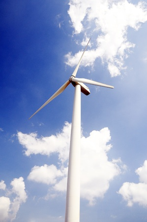 an image of wind turbine with blue sky Stock Photo - 13342986