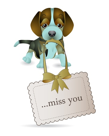 The dogs are telling miss you Stock Vector - 13496653
