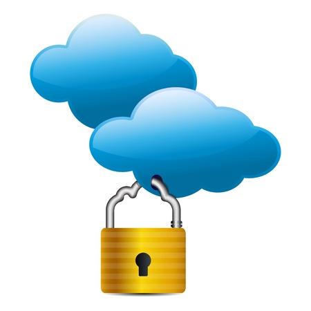Cloud computing internet security concept Stock Vector - 13548761