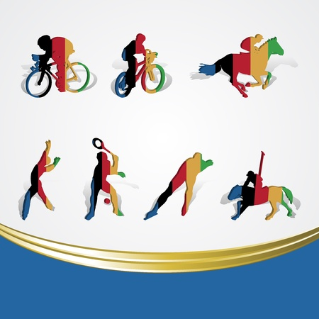 set of various icon sport or symbol sports colorful on white Stock Vector - 13596767