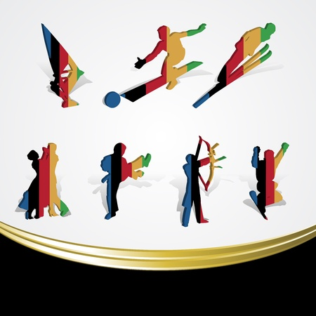 set of various icon sport or symbol sports colorful on white Vector
