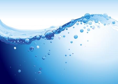 공기 배경의 거품과 강한 물 튀는 일러스트