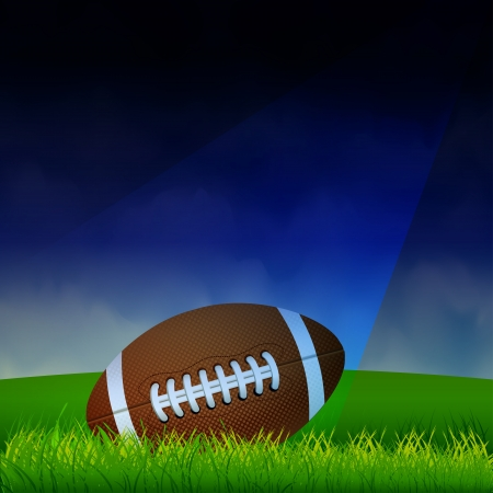 American Football on the field Vector