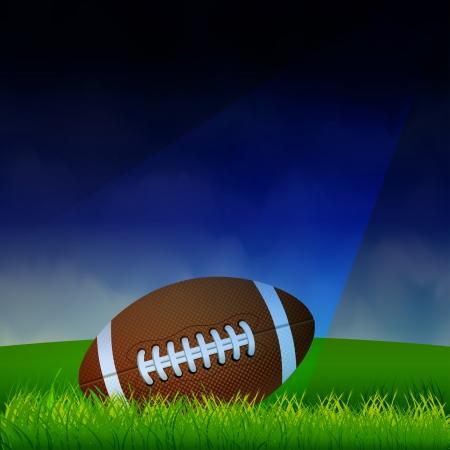 field and sky: Football americano sul campo Vettoriali