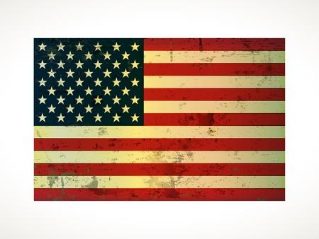 old vintage American flag grunge on paper Stock Vector - 13717381