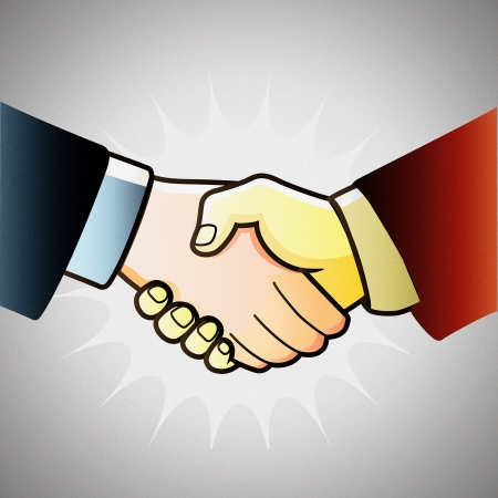 illustration hand shake of partners Vector