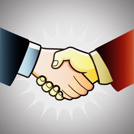 illustration hand shake of partners Stock Vector - 13736671