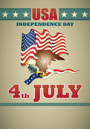 poster of independence day usa Vector