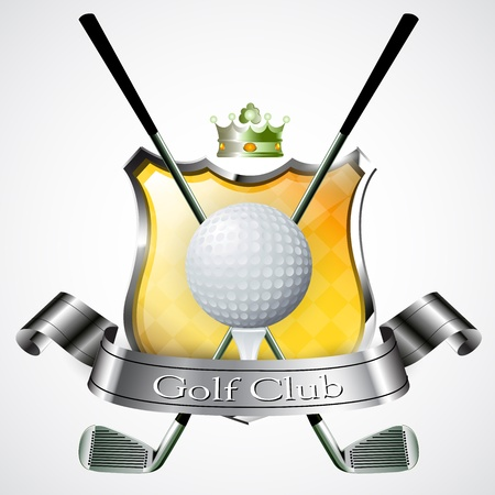 shield logo: Emblem of sport champion Golf