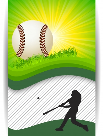 Baseball Banner Background with copy space Vector