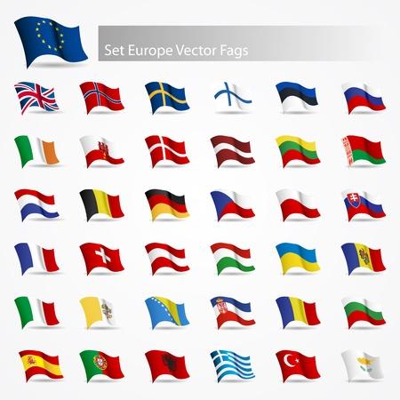 bandera de polonia: Banderas móviles que se encuentren las banderas de Europa en el fondo blanco