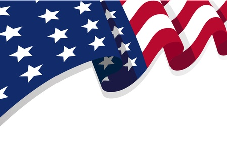 la bandera de los Estados Unidos de América, con copia espacio Ilustración de vector